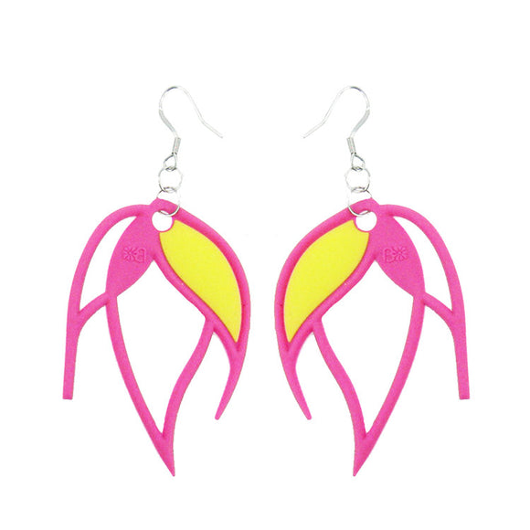 Batucada Flame Earring - Pink / Yellow