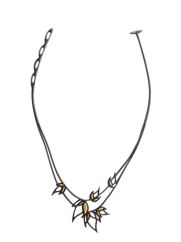 Batucada Flame Necklace black-gold