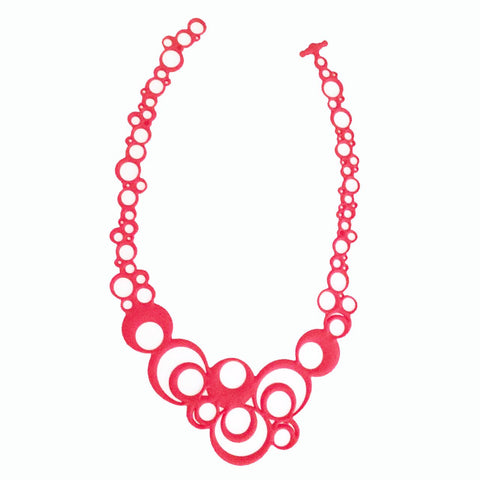 Night Bubbles Necklace Red
