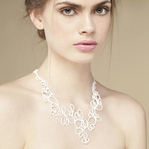 Batucada Petals Necklace - White