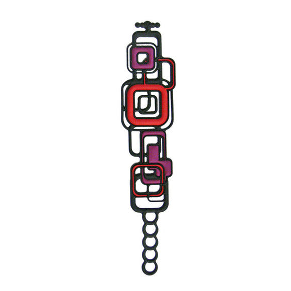 Batucada Pythagore Bracelet - Purple / Red
