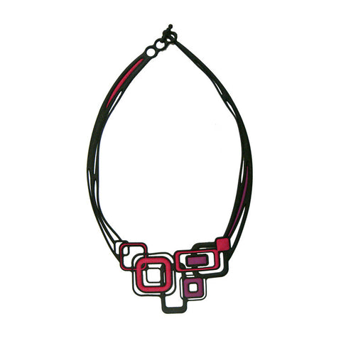 Batucada Pythagore Necklace - Purple / Red