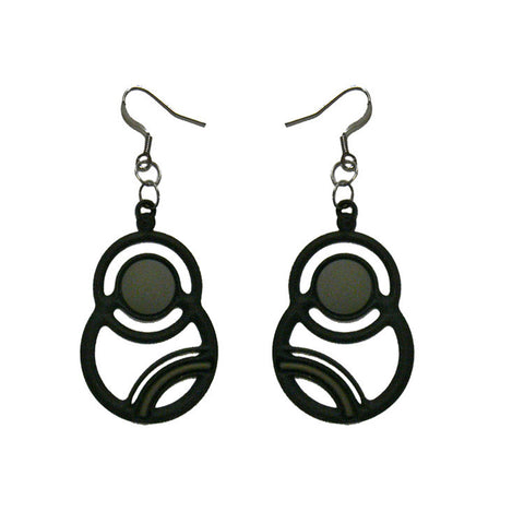 Batucada Saturne Earring - Black / Grey