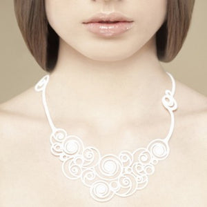 Batucada Summer Sprials Necklace - white