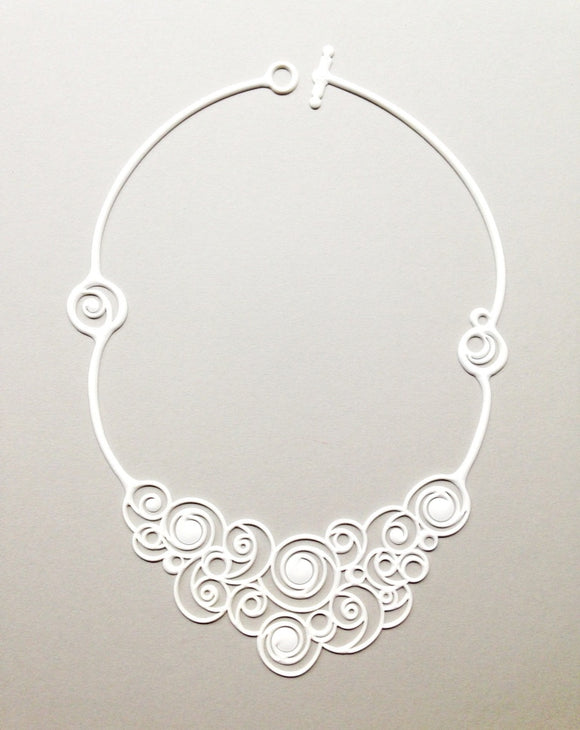 Batucada Summer Spirals Necklace - white