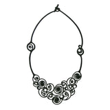 Batucada Summer Spirals Black Necklace
