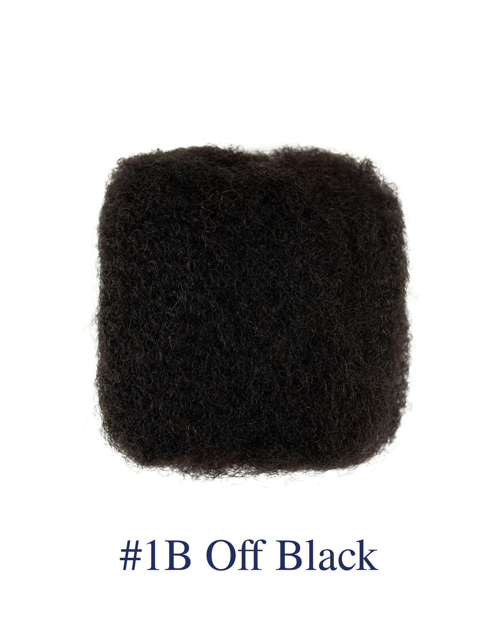 8' Off Black (#1B) Afro Kinky Human Hair