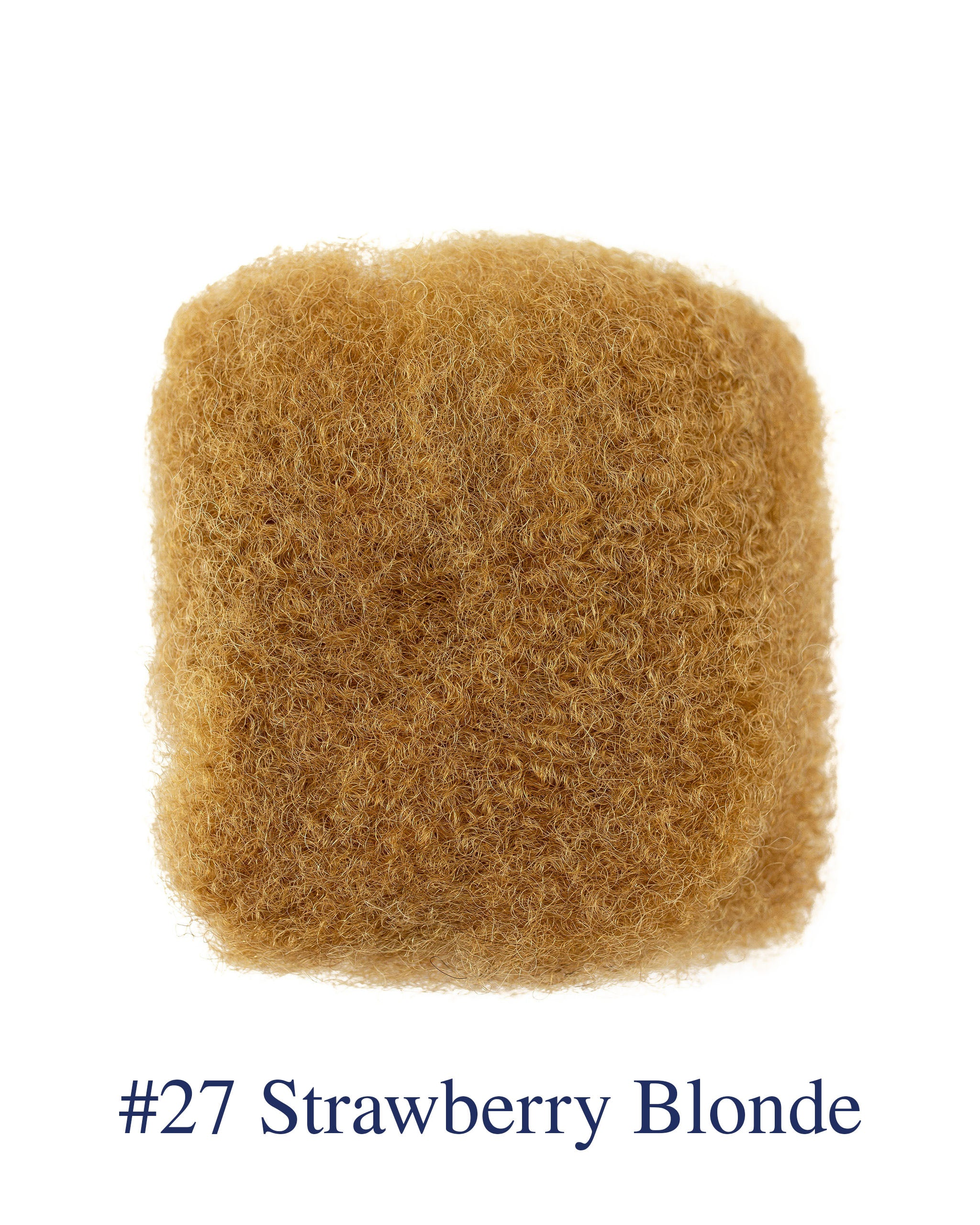 "8"" Strawberry Blonde (#27) Afro Kinky Human Hair"