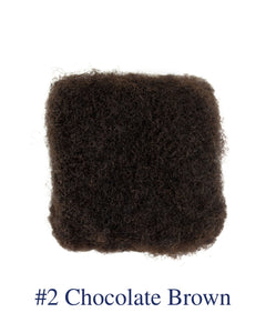 "12"" Chocolate Brown (#2) Afro Kinky Human Hair"