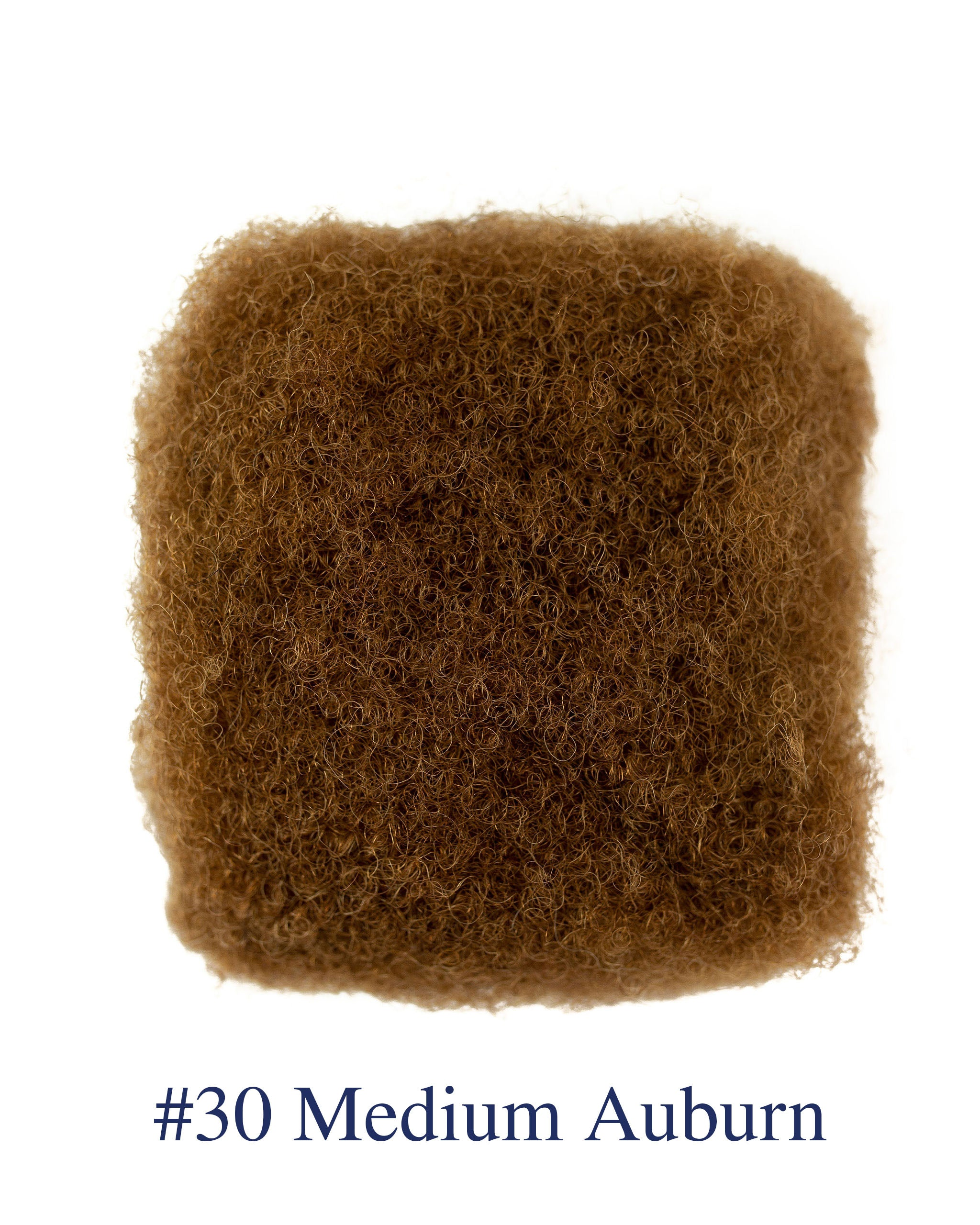"12"" Medium Auburn (#30) Afro Kinky Human Hair"