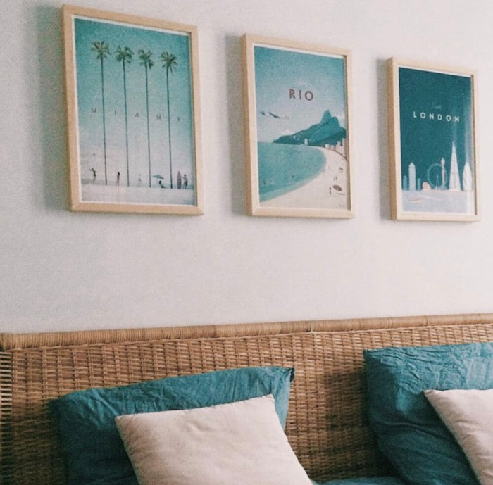 Rio wall art above bed