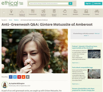 Ethical Consumer Anti-Greenwash Q&A with Gintare from Amberoot