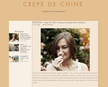 Crepe De Chine Blog Interviews Amberoot Co-Founder & CEO Gintare