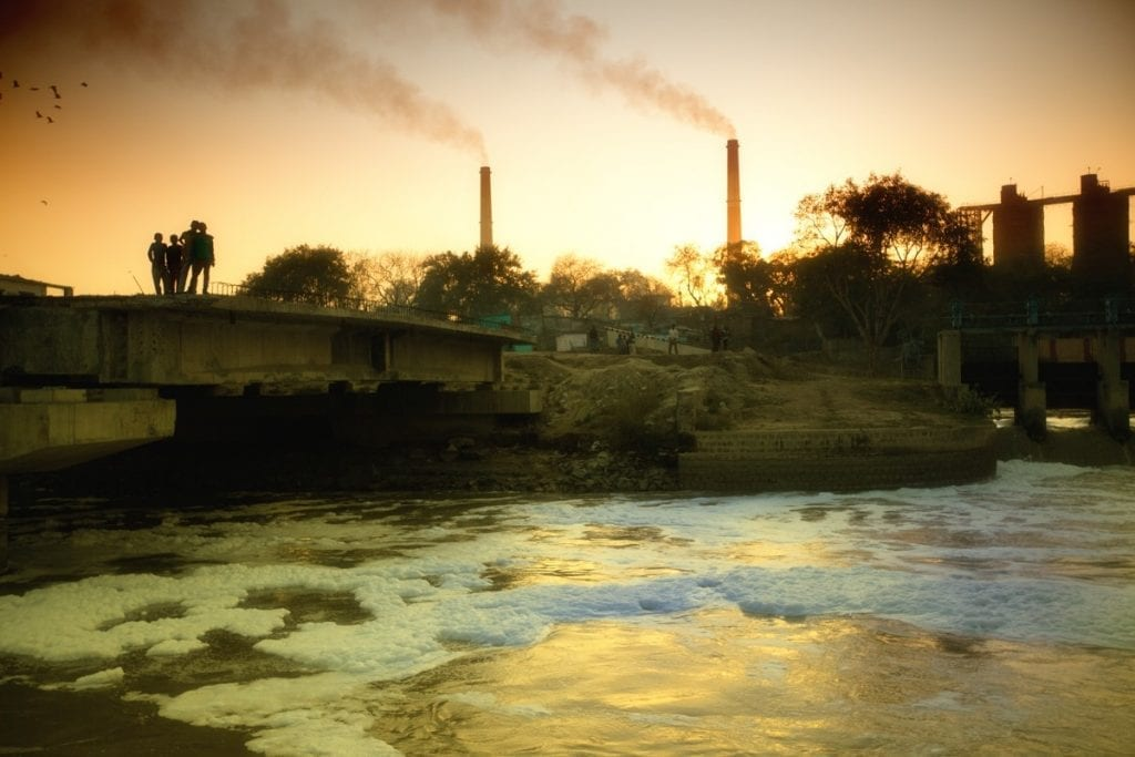 RiverBlue Fashion Films Article Series at Amberoot Textile Jeans Toxic Polluted Yamuna River in India