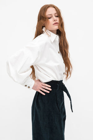 Svana Organic Cotton Sateen Blouse