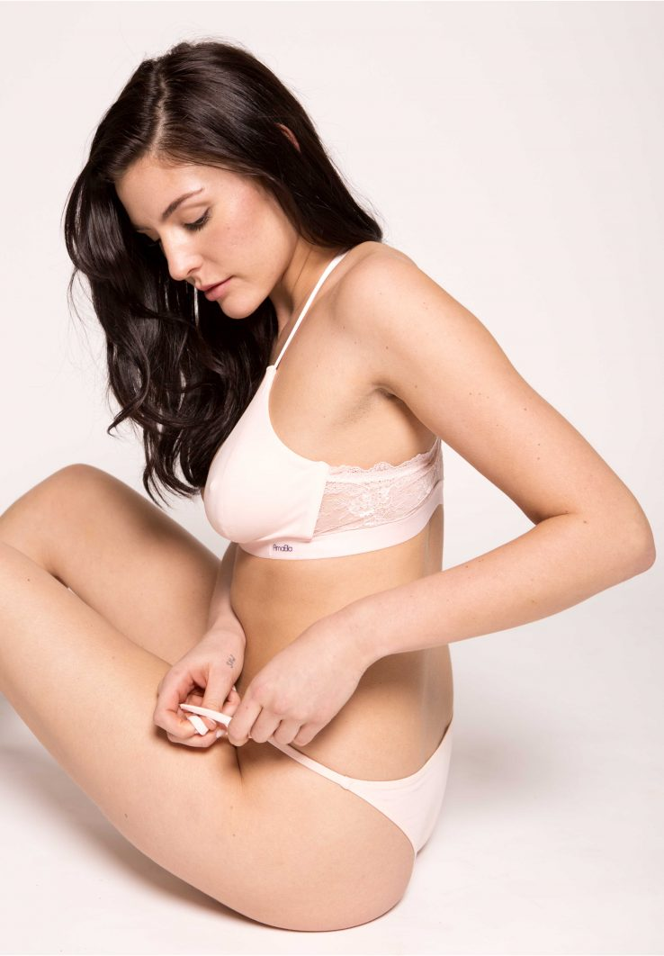 Pink Organic Cotton Tie Side Knickers