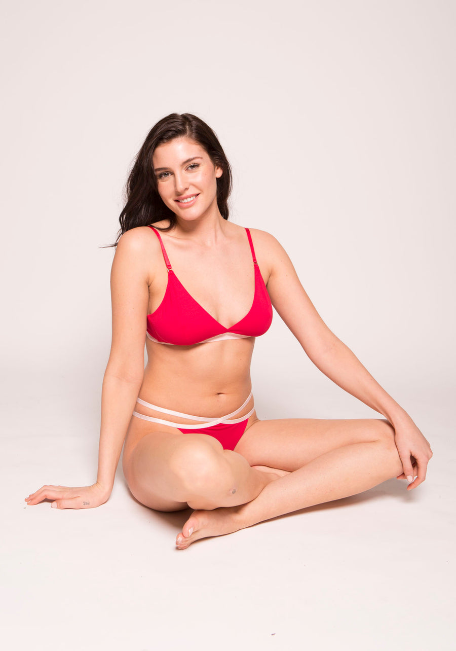Organic Cotton Wireless Triangle Bra