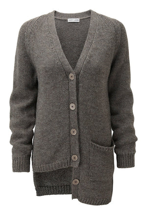 Asymetric Rescued Sheep Wool Cardigan