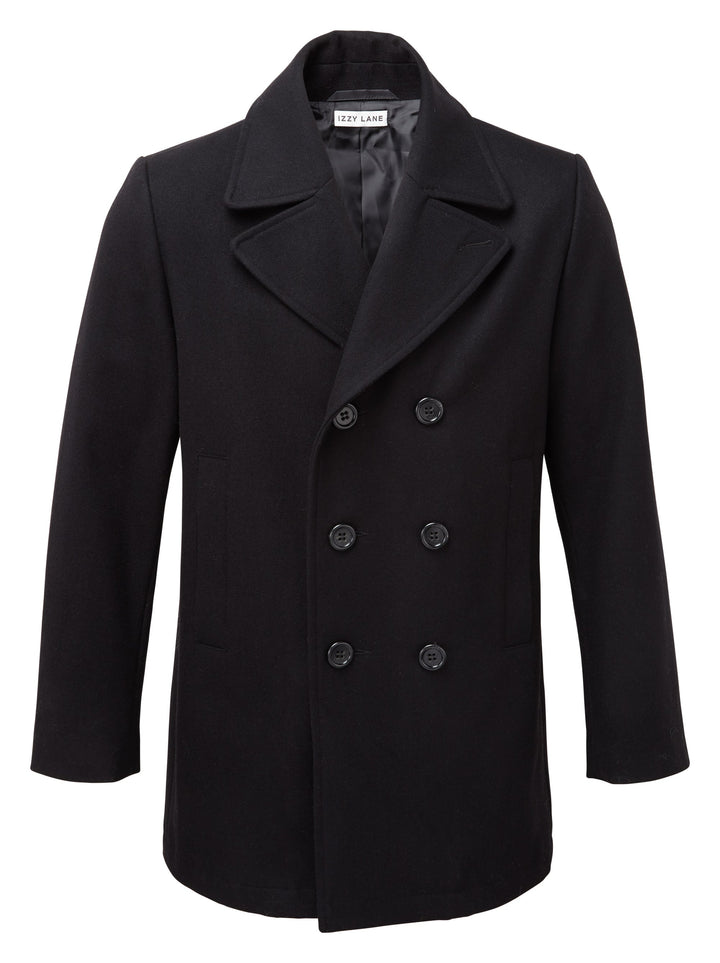 Rescued Sheep Wool Short Black Coat