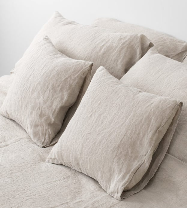 Natural linen pillow case made of 100