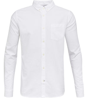 KnowledgeCotton Apparel - Button Down Oxford GOTS Organic Cotton Shirt at Amberoot (1)
