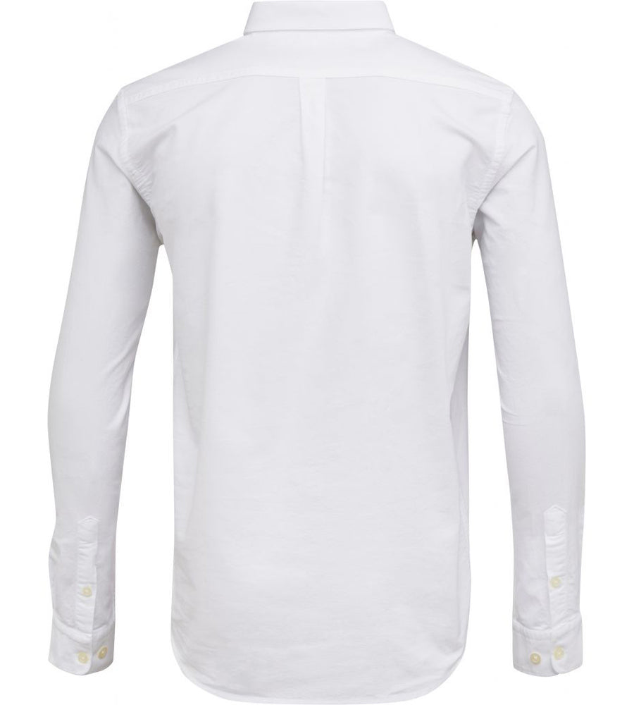 KnowledgeCotton Apparel - Button Down Oxford GOTS Organic Cotton Shirt at Amberoot (2)