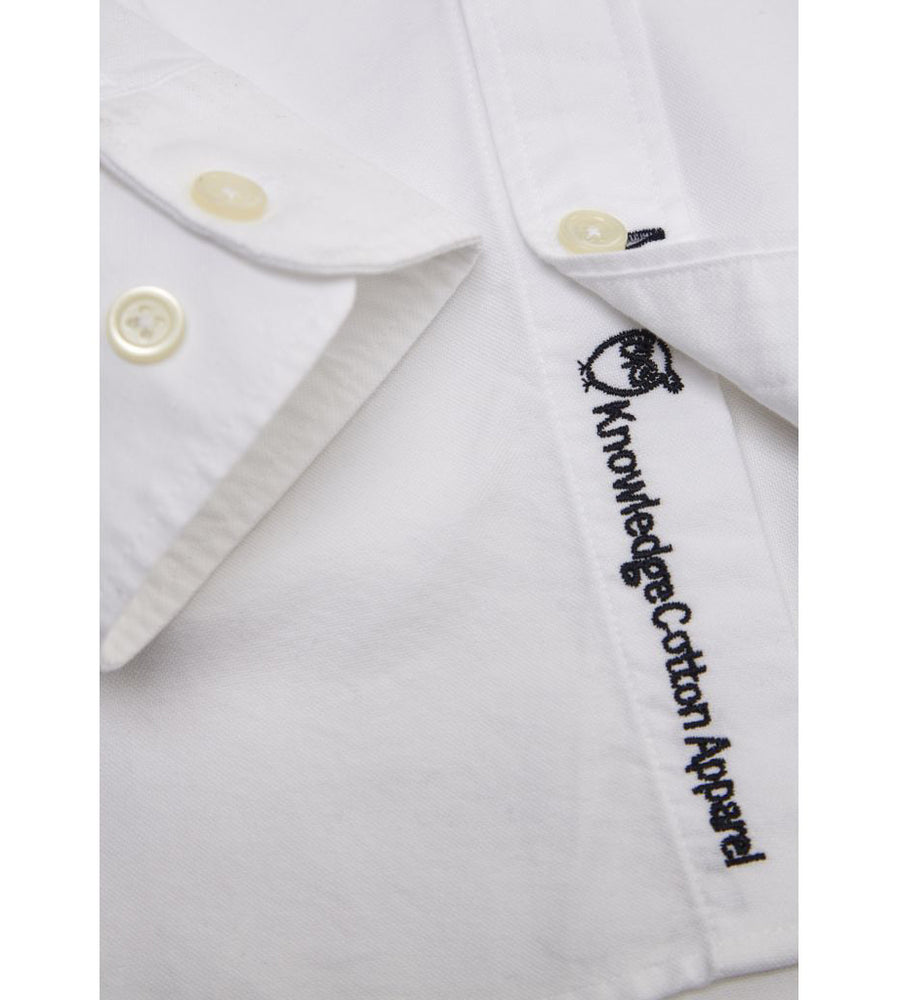KnowledgeCotton Apparel - Button Down Oxford GOTS Organic Cotton Shirt at Amberoot (4)