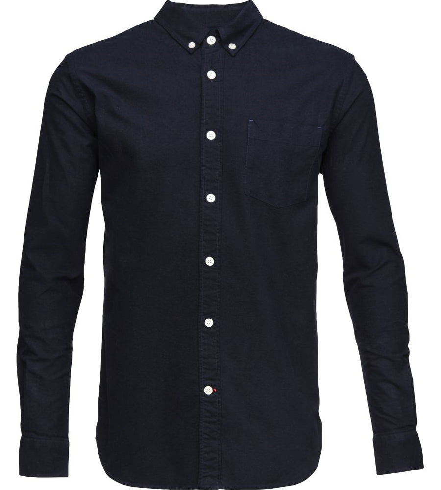 KnowledgeCotton Apparel - Button Down Oxford GOTS Organic Cotton Shirt at Amberoot (5)