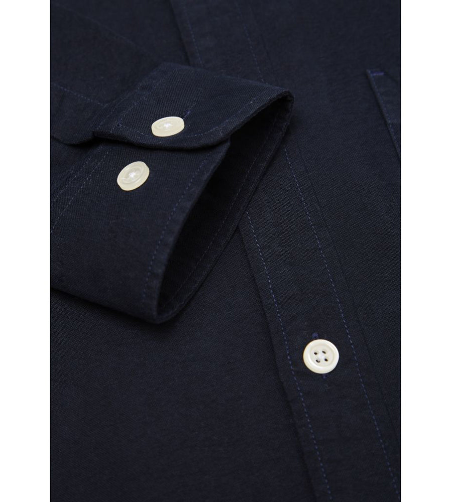 KnowledgeCotton Apparel - Button Down Oxford GOTS Organic Cotton Shirt at Amberoot (7)