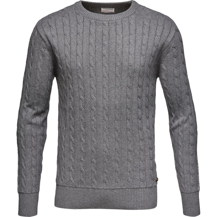 KnowledgeCotton Apparel – Cable Knit Organic GOTS Jumper @ Amberoot