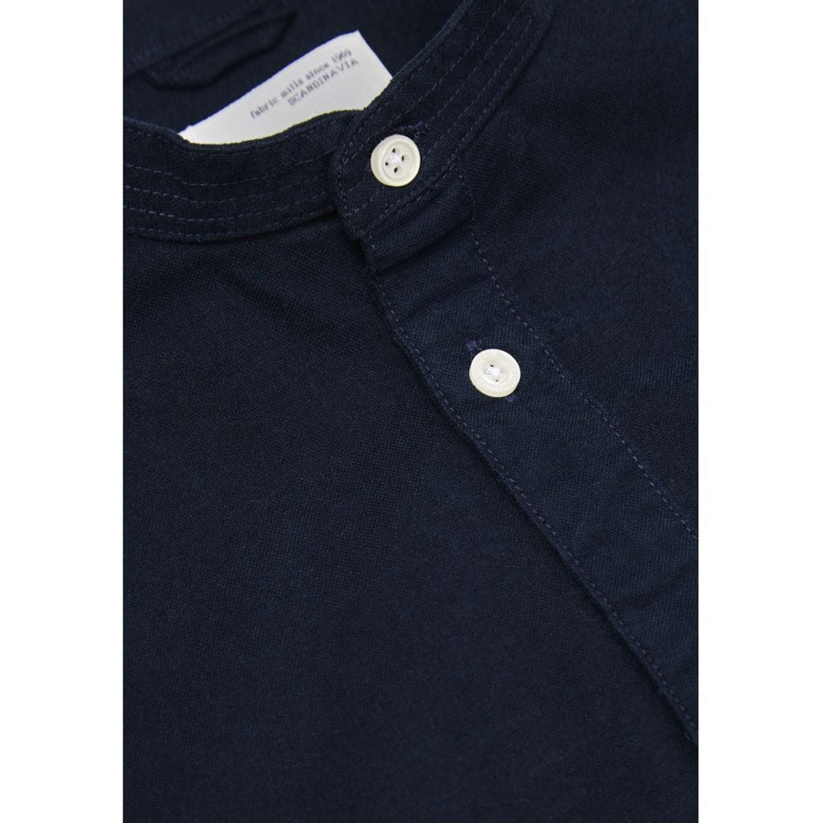 KnowledgeCotton Apparel – Stand Collar GOTS Organic Cotton Shirt @ Amberoot