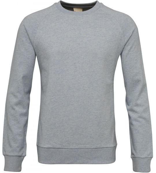 KnowledgeCotton Apparel - Grey Organic Cotton Sweatshirt at Amberoot (1)