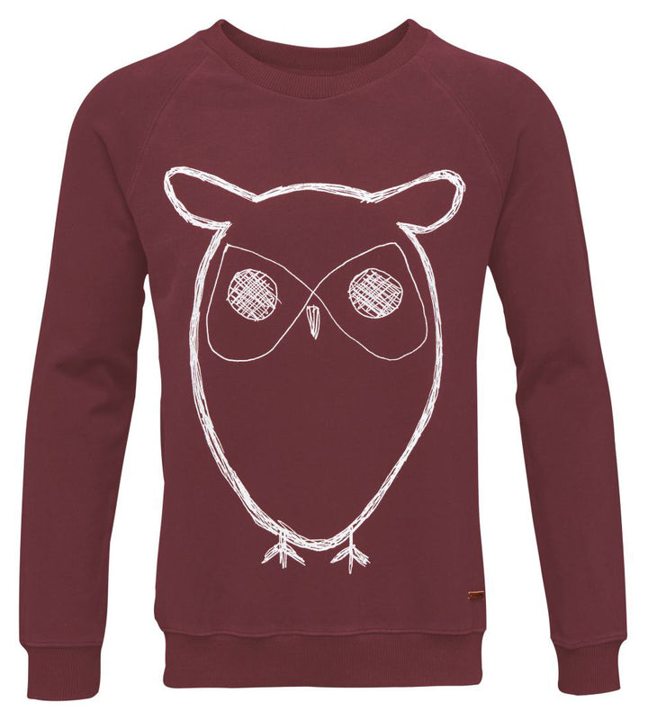 KnowledgeCotton Apparel - Owl Print Organic Cotton Sweatshirt at Amberoot (1)