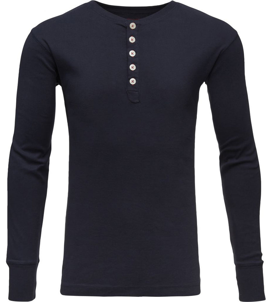 KnowledgeCotton Apparel - Rib Knit Henley GOTS Organic Cotton Shirt at Amberoot (3)