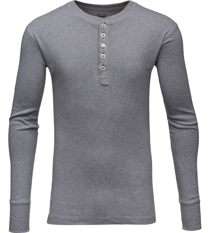 KnowledgeCotton Apparel - Rib Knit Henley GOTS Organic Cotton Shirt at Amberoot (6)