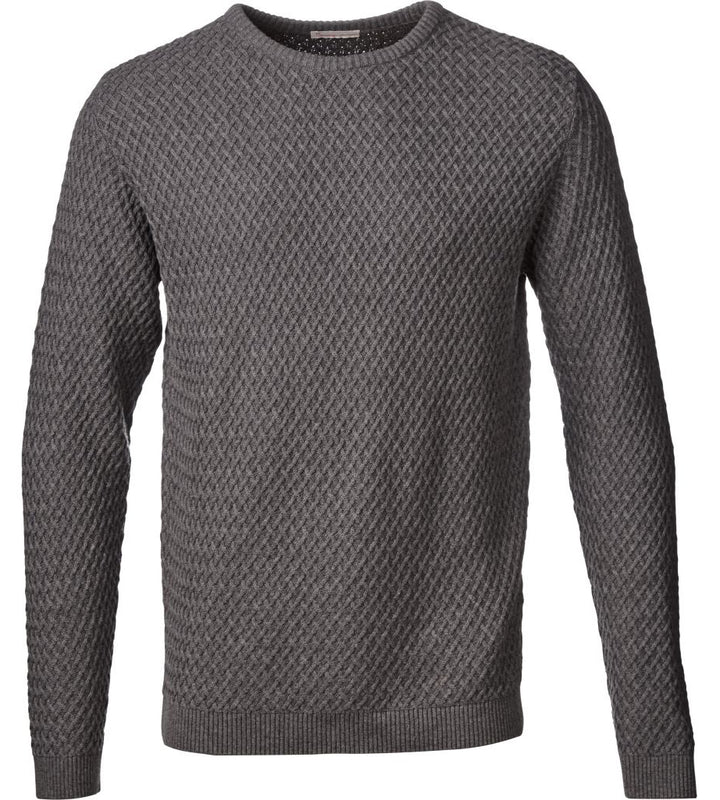 KnowledgeCotton Apparel - Small Diamond Knit GOTS Organic Cotton Jumper (2)