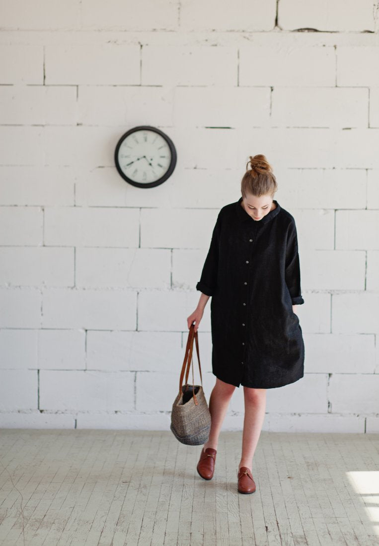 One Size Linen Dress