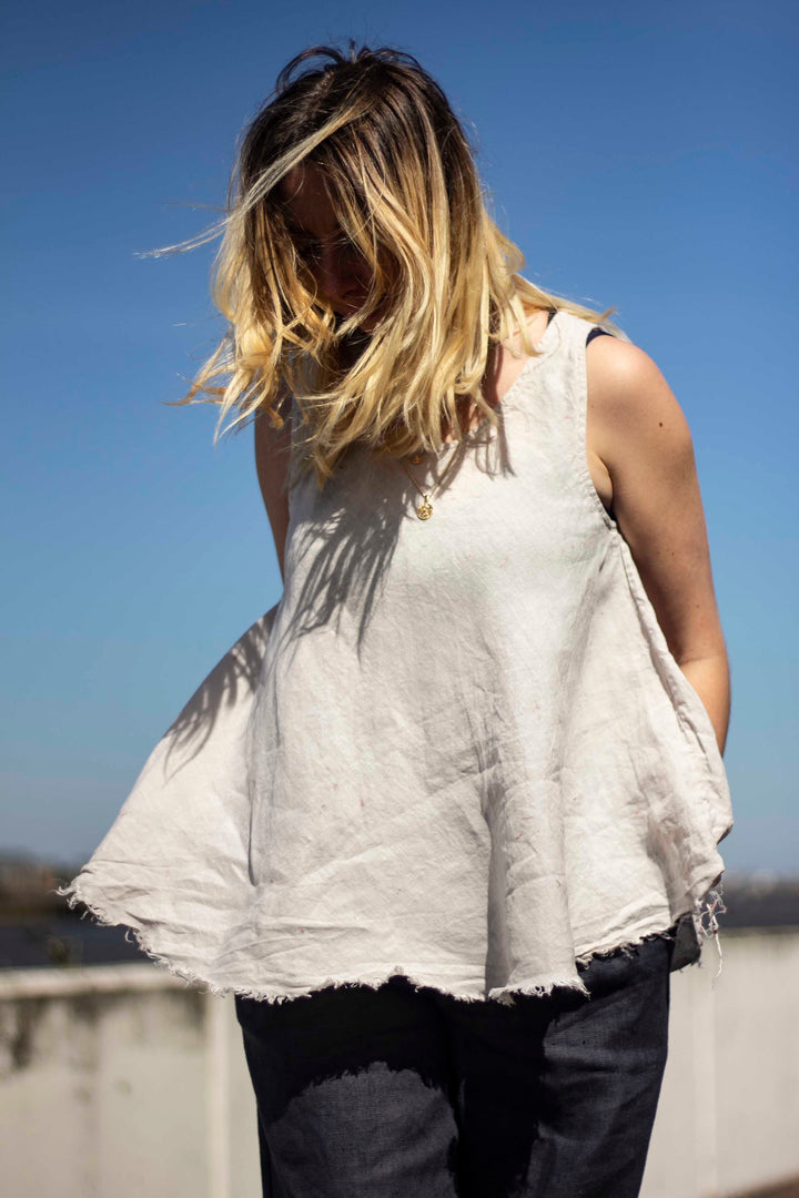 Let the Breeze in Linen Summer Top
