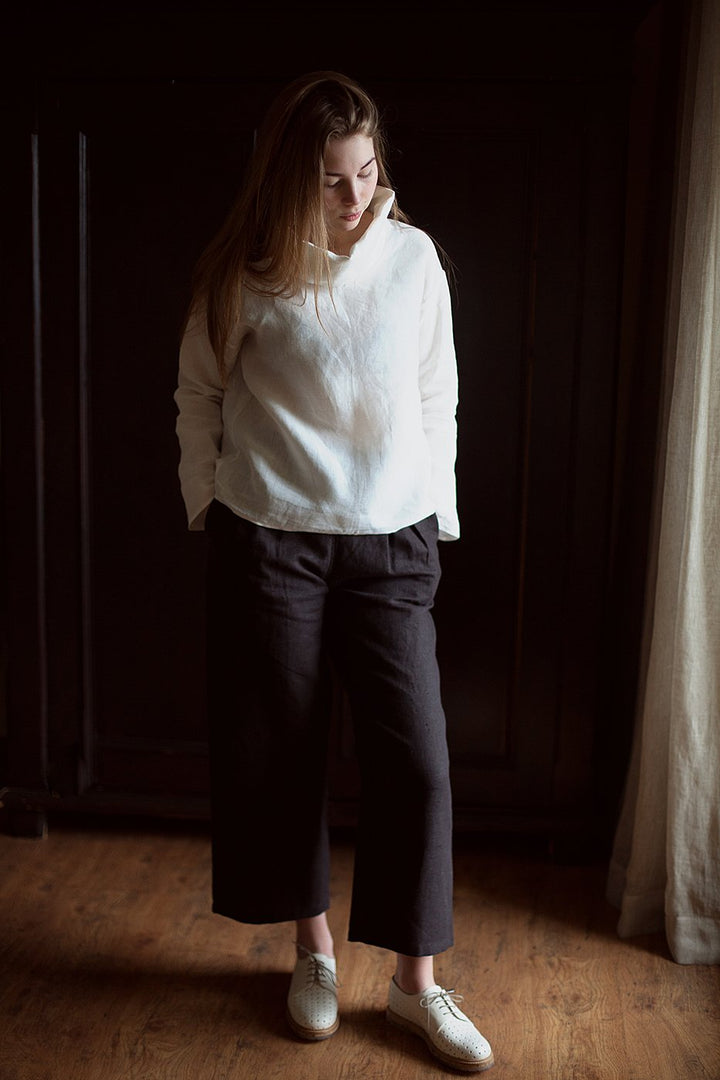 Turtle Neck Linen Top