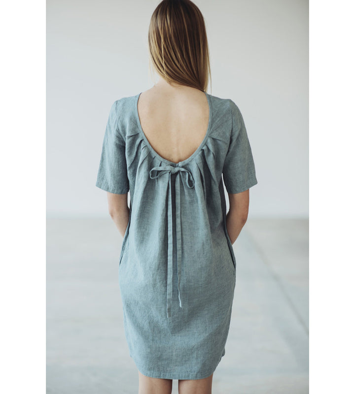Motumo - Backless Linen Dress at Amberoot (1)
