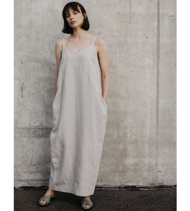 Beige Muse Linen Dress