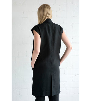 Motumo - Black Linen Tunic at Amberoot (6)