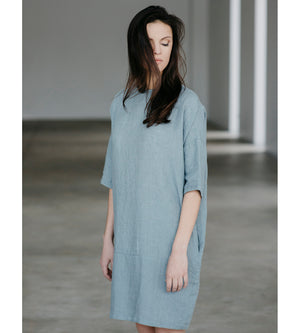 Motumo - Button Detail Linen Dress at Amberoot (3)
