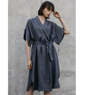 Dark Grey Wrap Dress