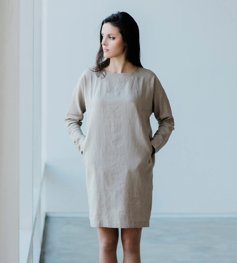 Motumo - Dunes Linen Dress at Amberoot (1)