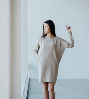 Motumo - Dunes Linen Dress at Amberoot (2)