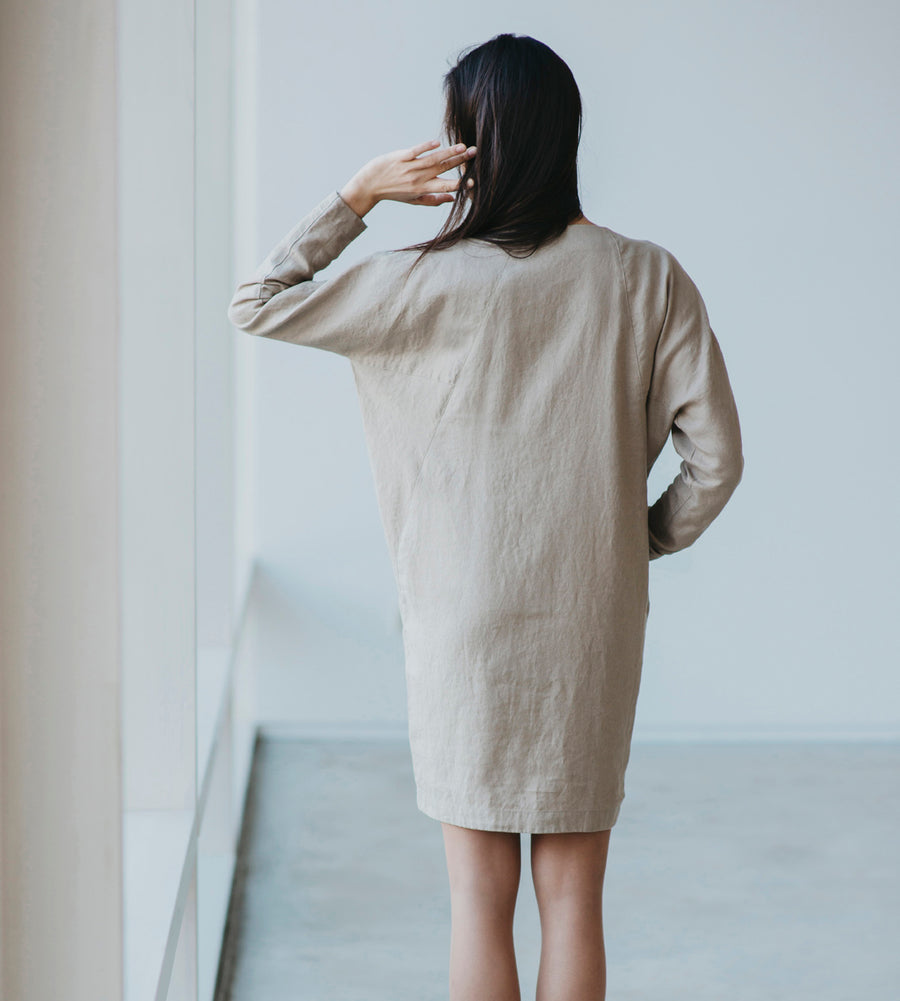 Motumo - Dunes Linen Dress at Amberoot (3)