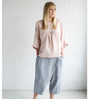 Motumo - Grey Blue Culotte Trousers at Amberoot (1)