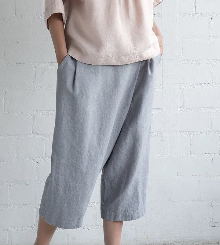 Motumo - Grey Blue Culotte Trousers at Amberoot (4)