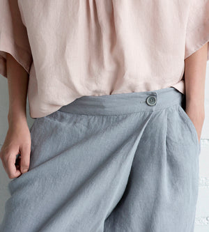 Motumo - Grey Blue Culotte Trousers at Amberoot (5)